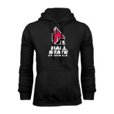 Black Fleece Hoodie-Ball State Cardinals Stacked