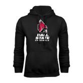 Black Fleece Hood-Ball State Cardinals Stacked