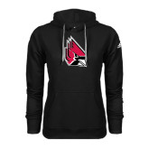 Adidas Climawarm Black Team Issue Hoodie-Cardinal