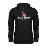 Adidas Climawarm Black Team Issue Hoodie-Ball State Cardinals w/ Cardinal