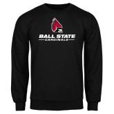 Black Fleece Crew-Cardinal Head Ball State Cardinals