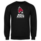 Black Fleece Crew-Cardinal Head Ball State Cardinals Vertical
