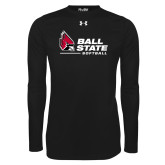Under Armour Black Long Sleeve Tech Tee-Ball State Softball