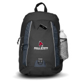 Impulse Black Backpack-Cardinal Head Ball State Cardinals
