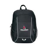 Atlas Black Computer Backpack-Ball State Cardinals w/ Cardinal