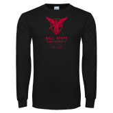 Black Long Sleeve T Shirt-Centennial Mark