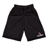Midcourt Performance Black 9 Inch Game Short-Ball State Cardinals w/ Cardinal