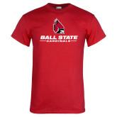 Red T Shirt-Cardinal Head Ball State Cardinals