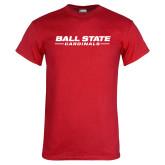Red T Shirt-Ball State Cardinals Wordmark