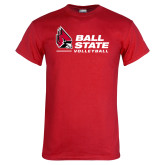 Red T Shirt-Ball State Volleyball