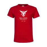 Youth Red T Shirt-Centennial Mark
