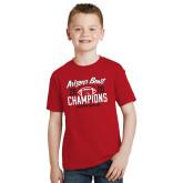 Youth Red T Shirt-2020 Arizona Bowl Champions