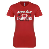 Next Level Ladies SoftStyle Junior Fitted Red Tee-2020 Arizona Bowl Champions
