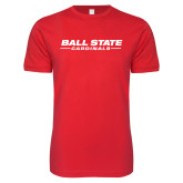 Next Level SoftStyle Red T Shirt-Ball State Cardinals Wordmark