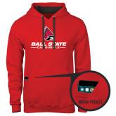 Contemporary Sofspun Red Hoodie-Ball State Cardinals w/ Cardinal