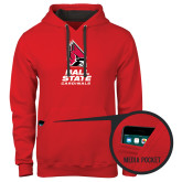 Contemporary Sofspun Red Hoodie-Ball State Cardinals Stacked