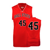 Youth Replica Red Basketball Jersey-#45