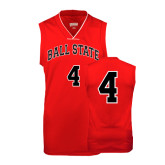 Youth Replica Red Basketball Jersey-#4