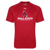 Under Armour Red Tech Tee-Cardinal Head Ball State Cardinals