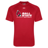 Under Armour Red Tech Tee-Ball State Softball