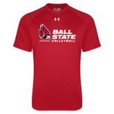 Under Armour Red Tech Tee-Ball State Volleyball
