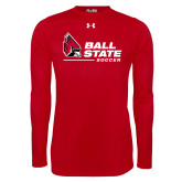 Under Armour Red Long Sleeve Tech Tee-Ball State Soccer