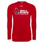Under Armour Red Long Sleeve Tech Tee-Ball State Softball