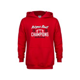 Youth Red Fleece Hoodie-2020 Arizona Bowl Champions