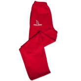 Champion PowerBlend Red Fleece Open Bottom Pant-Ball State Cardinals w/Cardinal