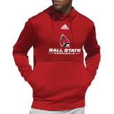 Adidas Red Team Issue Hoodie-Cardinal Head Ball State Cardinals