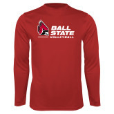 Performance Red Longsleeve Shirt-Ball State Volleyball