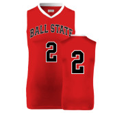 Replica Red Adult Basketball Jersey-#4