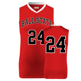 Replica Red Adult Basketball Jersey-#24