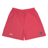 Under Armour Red HeatGear Microshort w/Pockets-Ball U