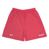 Under Armour Red HeatGear Microshort w/Pockets-Ball State Cardinals w/Cardinal
