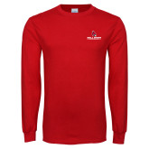 Red Long Sleeve T Shirt-Cardinal Head Ball State Cardinals