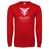Red Long Sleeve T Shirt-Centennial Mark