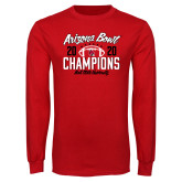 Red Long Sleeve T Shirt-2020 Arizona Bowl Champions