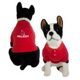 Classic Red Dog Polo-Cardinal Head Ball State Cardinals