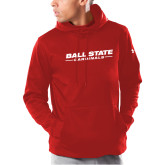 Under Armour Red Armour Fleece Hoodie-Ball State Cardinals Wordmark