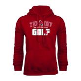 Cardinal Fleece Hood-Golf Tee Off