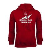Cardinal Fleece Hood-Track & Field Side