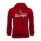 Cardinal Fleece Hood-Volleyball Can You Dig It