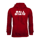 Cardinal Fleece Hood-Ball State Stacked