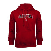 Cardinal Fleece Hood-Arched Ball State University Cardinals