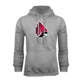 Grey Fleece Hood-Cardinal