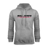 Grey Fleece Hood-Ball State Cardinals