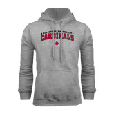 Grey Fleece Hoodie-Arched Ball State University Cardinals