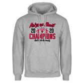 Grey Fleece Hoodie-2020 Arizona Bowl Champions
