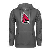 Adidas Climawarm Charcoal Team Issue Hoodie-Cardinal